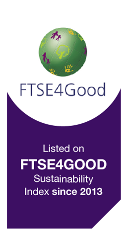Listed on FTSE4GOOD Sustainability Index since 2013