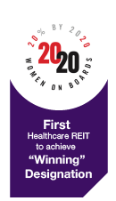 Healthcare REIT to achieve Winning Designation